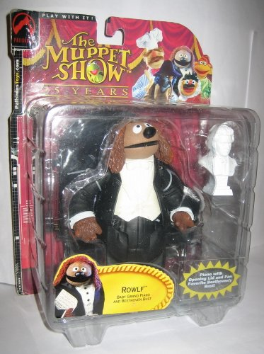 Palisades Muppet Show ROWLF THE DOG with Baby Grand Piano & Beethoven Bust Action Figure (Beethoven Action Figure compare prices)