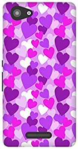 The Racoon Lean Purple Heart Rain hard plastic printed back case / cover for Sony Xperia E3