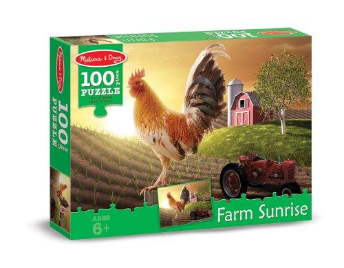 Melissa & Doug Sunrise Farm Cardboard Jigsaw Puzzle, 100-Piece