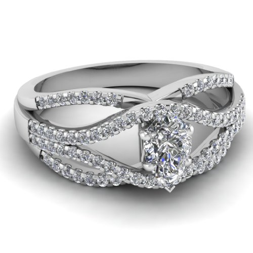 Fascinating Diamonds 1.20 Ct Pear Shaped Cut:Very Good Diamond Engagement Ring F-Color 14K Gia