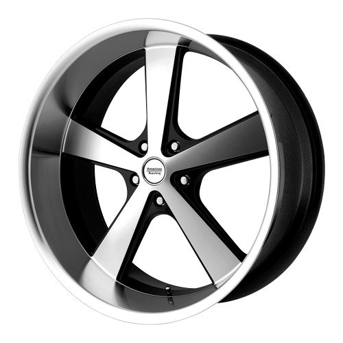 American Racing VN701 Nova Gloss Black Wheel with Machined Face and Spokes (16x8