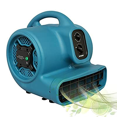 XPOWER P-450NT 1/3 HP Freshen Aire Scented Air Mover with Ionizer & Timer