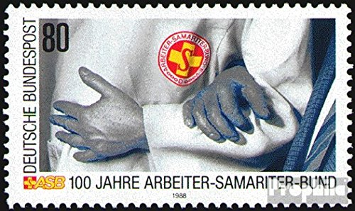 rfa-frallemagne-1394-completeprobleme-1988-samaritains-ouvriers-timbres-pour-les-collectionneurs