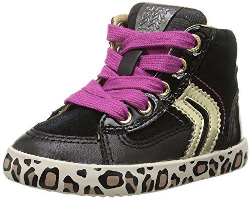 Geox B KIWI GIRL B - zapatillas de running de cuero Bebé-Niños, Multicolor (c0495), 21
