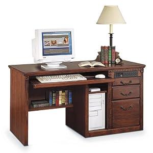 "Huntington Oxford Burnished Oak Desk (Burnish Oak Finish) (29""H x 55.5""W x 24.5""D)"