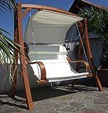 Design Hollywoodschaukel Gartenschaukel Hollywood Schaukel aus Holz Lärche Modell: 'MERU'