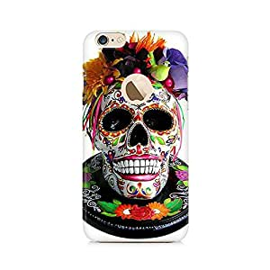 Mobicture Skull Art Premium Printed Case For Apple iPhone 6/6s with hole