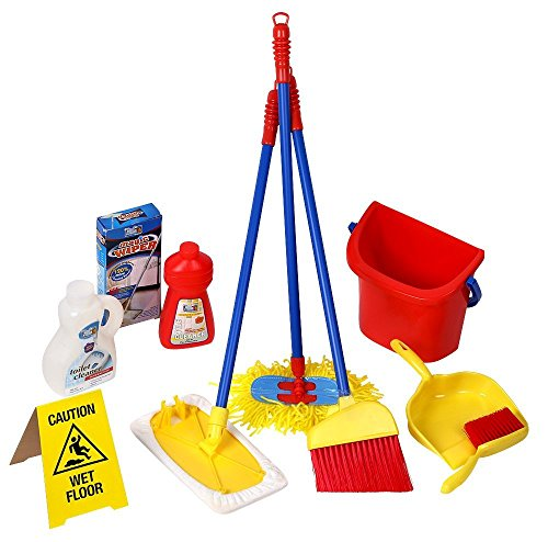 Click n' Play 10 Piece Kids Pretend Play Cleaning Set ...