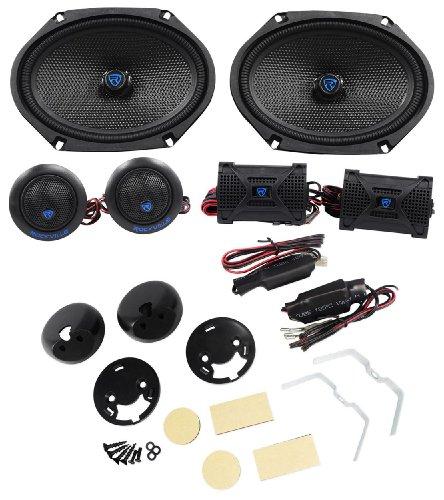 "Rockville Rv68.2K 6X8"" Component Kit Car Speakers, 80 Watts Rms / 320 Watt Peak"