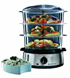 BRAND NEW RUSSELL HOBBS 9 LITRE 800W COOK@HOME 3 TIER FOOD STEAMER 19270