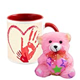 AllUPrints All You Need Is Love Red Coffee Mug With Teddy - 11 oz (Valentine Day Gifts)