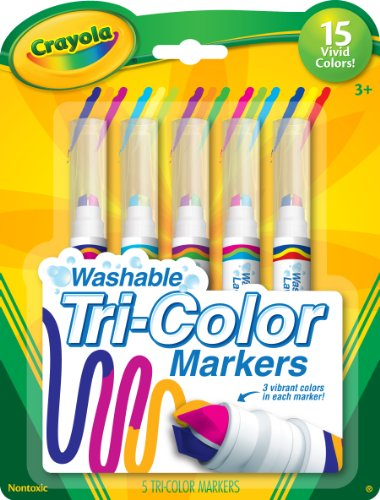 Crayola 5 Count Washable Triple Tip Markers