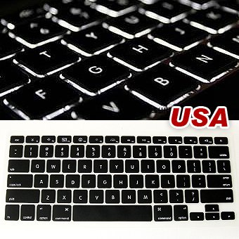 ML0101 New black keyboard cover skin for Apple macbook pro 13