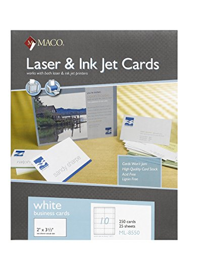 office depot postcard template - inkjet matte business cards 2 x 3 1 2 white 10 sheet