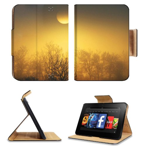 Orange Sun Over The Forest Amazon Kindle Fire Hd 7 [Previous Generation 2012] Flip Case Stand Magnetic Cover Open Ports Customized Made To Order Support Ready Premium Deluxe Pu Leather 7 11/16 Inch (195Mm) X 5 11/16 Inch (145Mm) X 11/16 Inch (17Mm) Msd Pr