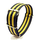 Zeitpunkt-Nylon Watchband blue/yellow 18mm