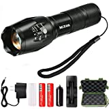Mizoo LED Flashlight Torch Adjustable Focus Zoomable Mini Generic , Super Bright - Sturdy and Durable Aluminium Structures - Water Resistant Lighting Lamp Torch For Hiking, Camping, Emergency (SET3)