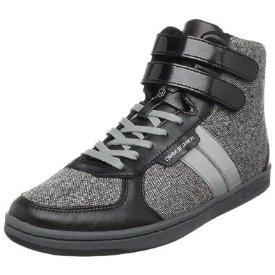 Creative Recreation Men's Dicoco High-Top Sneaker,Black/Tweed/Grey,7.5 M US