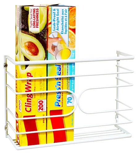 decobros wall door mount kitchen wrap organizer rack