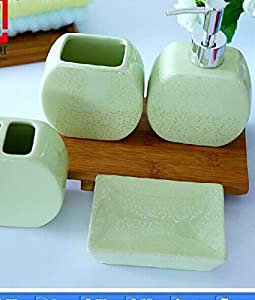 Bathroom Accessory Sets Unique And Creative Light Green Cerami