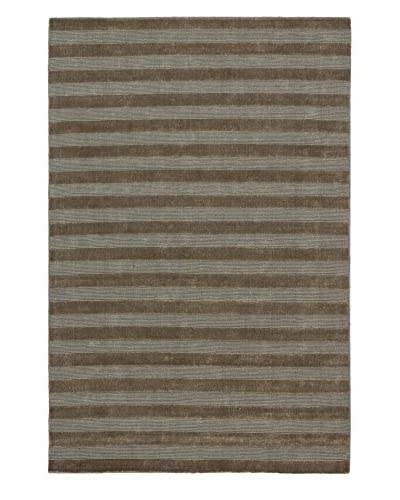 eCarpet Gallery One-of-a-Kind Hand-Knotted Luribaft Gabbeh Riz Rug, Khaki, 5' 2 x 7' 10