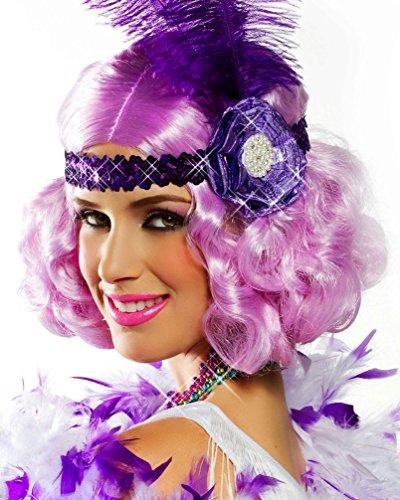 Popca (Purple Black And Lilac Costumes Wig)