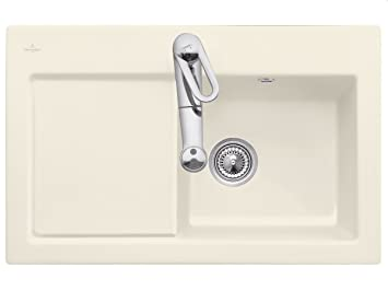 Villeroy Boch Subway 45 &Ivory Ceramic Sink Kitchen Sink Fitting Cream