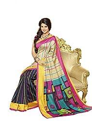 ShoppingOye Printed Mysore Silk Saree in Multi Color With Blouse Piece