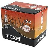 Lot de 10 CD-R Audio Maxell 80 Min., livrés dans boîtier plastique 10mm