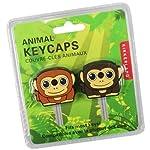 Kikkerland KR83 Monkey Key Caps, Set of 2