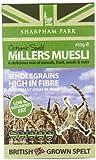 Sharpham Park Organic Spelt Miller's Muesli 450 g (Pack of 2)