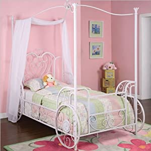 Princess Emily Carriage Canopy Twin Size Bed by Powell Furniture