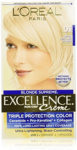 L'Oreal Excellence Blonde Supreme Triple Protection Color Creme, Extra Light Ash Blonde, High Lift/Cooler 01 (Pack of 3) (High Lift Hair Dye Blonde compare prices)