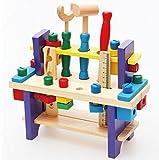 【Kent&Katy】木のおもちゃ 幼児教育 知育玩具 大工セット 安全な木製工具 発想力を育てようBtype〔セレクト並行輸入品〕