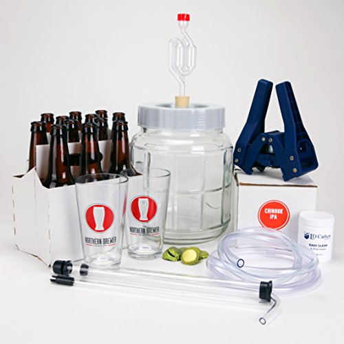 All Inclusive - Go Pro 1 Gallon Small Batch Beer Brewing Starter Kit Equipment Set with Chinook IPA Beer Recipe Kit (Brewer Starter Kit compare prices)