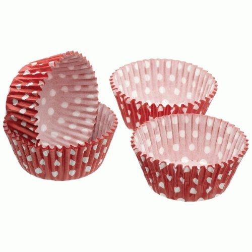 Rojo de lunares Petit cuatro para cupcakes