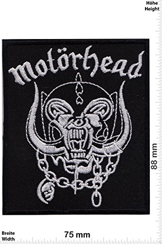 Patch - Motörhead - Skull - Musicpatch - Rock - Vest - Iron on Patch - toppa - applicazione - Ricamato termo-adesivo - Give Away