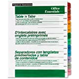 Avery Office Essentials Table 'n Tabs Dividers, 12 Tabs,  January - December Tabs, Assorted Colors, 1 Set (11679)