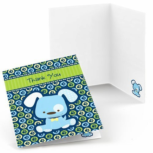 Boy Puppy Dog Thank You Cards (8 count)