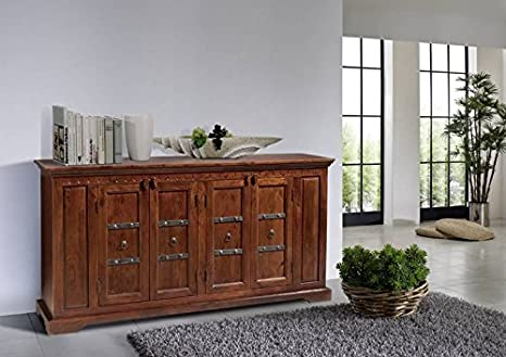 Buffet en bois massif d'acacia style colonial-oXFORD - 403