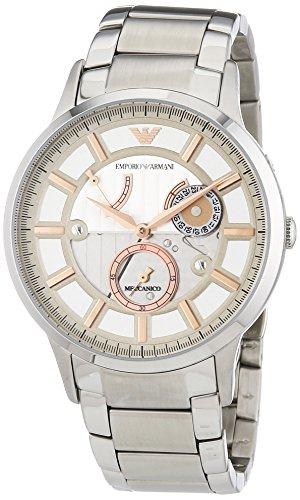 Emporio Armani  AR4663 - Reloj de automático para hombre, con correa de acero inoxidable, color plateado