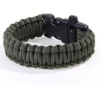 Generic Paracord Parachute Cord Survival Bracelet - Foliage Green
