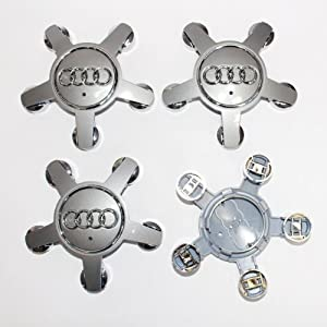 HAMMER Audi 70.5mm Grey Octopus Wheel Center Hub Caps Cover 4-pc Set Special Offer by HAMMER