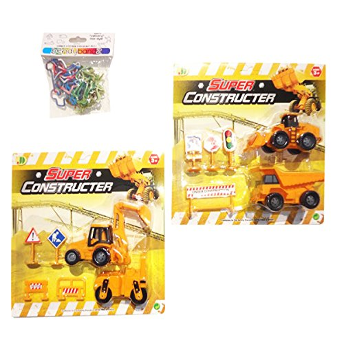 Best Inexpensive Stocking Stuffer Christmas Gift Toys For Boys Small Yellow Dump Truck Construction Set Toy Trucks -Affordable Christmas Gifts Ideas For Boys Kids (Truck Set 2 Pack) front-324964