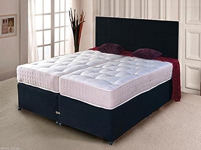 5ft & 6ft Luxury Zip & Link Divan Bed Sets with Pocket Sprung Mattress - Sleepkings Beds