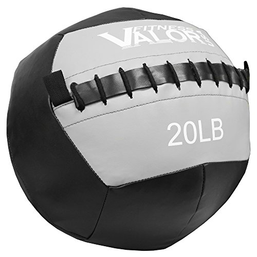 Valor Fitness WB-20 Wall Ball, Black/Grey, 20-Pound