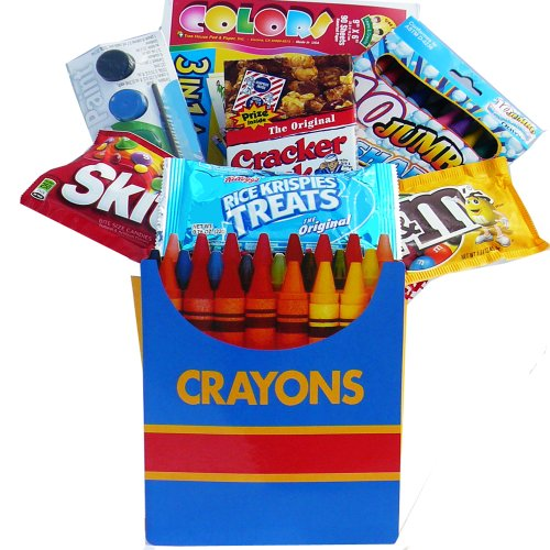 Color Me Crazy Playtime Snacks & Activity Gift Bag Set - A Great Gift Basket For Kids!
