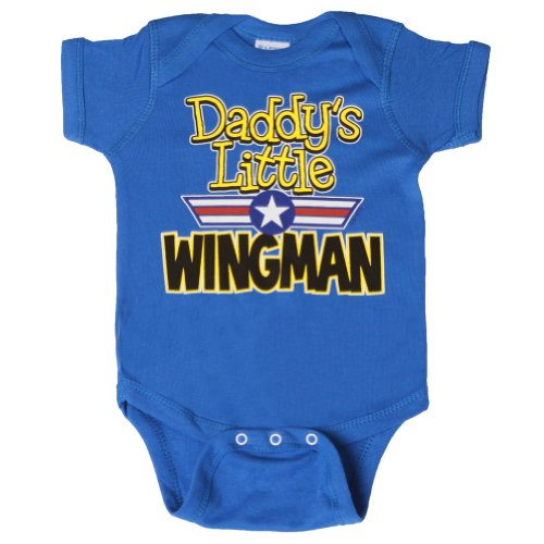 Daddy'S Little Wingman Onsie, Royal 18 Months front-1007507