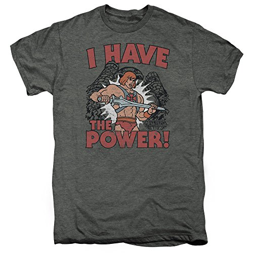 Masters Of The Universe Cartoon He-Man I Have The Power Adult PT T-Shirt Tee
