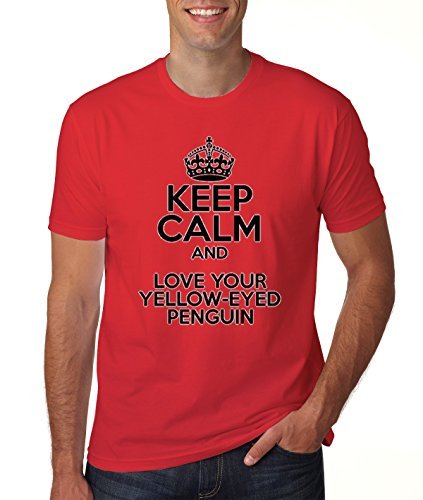 keep-calm-and-love-your-yellow-eyed-penguin-mens-classic-t-shirt-medium